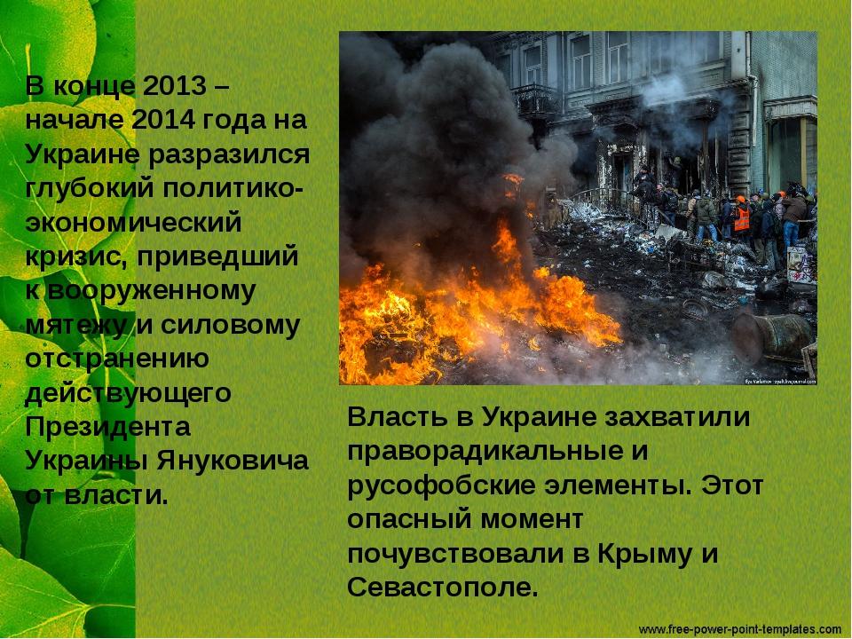 В конце 2013 –начале 2014 года на Украине разразился глубокий политико-эконом...