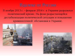 Вдалеке от России В ноябре 2013 г. - феврале 2014 г. в Украине разразился пол