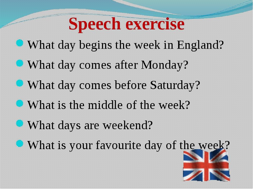 excersise speech