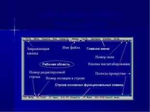 Среда программирования Turbo Pascal 7.0