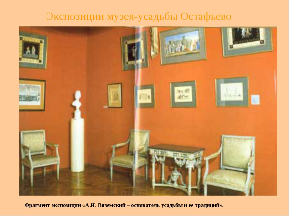 Экспозиции музея-усадьбы Остафьево Фрагмент экспозиции «А.И. Вяземский – осно...