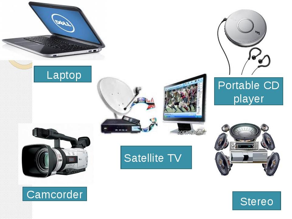 Laptop Portable CD player Stereo Satellite TV Camcorder