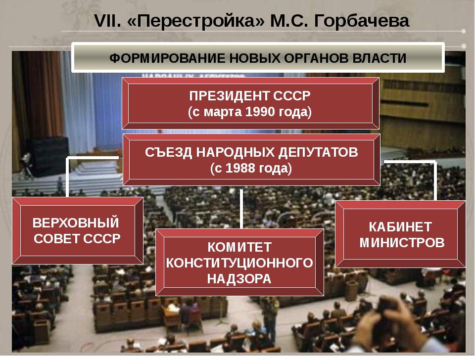 СЪЕЗД НАРОДНЫХ ДЕПУТАТОВ (с 1988 года) ВЕРХОВНЫЙ СОВЕТ СССР КАБИНЕТ МИНИСТРОВ...