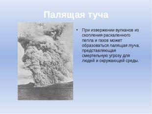 Палящая туча При извержении вулканов из скопления раскаленного пепла и газов