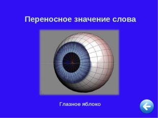 Переносное значение слова Глазное яблоко