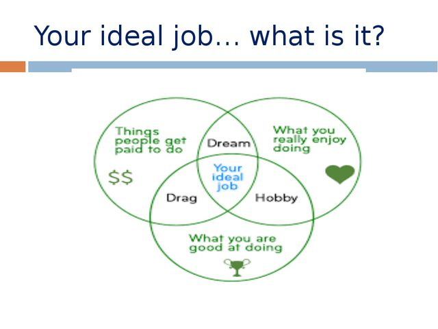 Your ideal job… what is it?