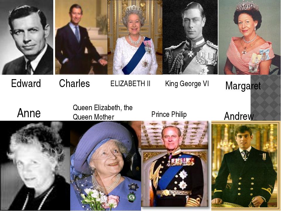 Charles ELIZABETH II King George VI Margaret Anne Queen Elizabeth, the Queen...