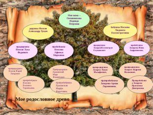 Мое родословное древо Моя мама – Овчинникова Надежда Петровна дедушка Носков