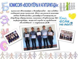 комиссия «Волонтёры и Агитбригада» - это недавно созданная нами комиссия. Зде