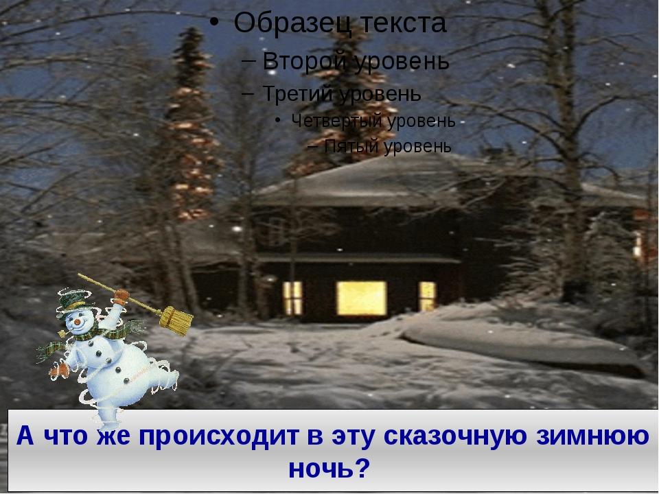 А что же происходит в эту сказочную зимнюю ночь?