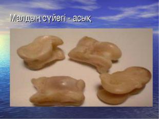 Малдың сүйегі - асық
