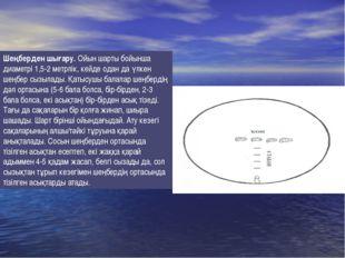 Шеңберден шығару. Ойын шарты бойынша диаметрі 1,5-2 метрлік, кейде одан да үл