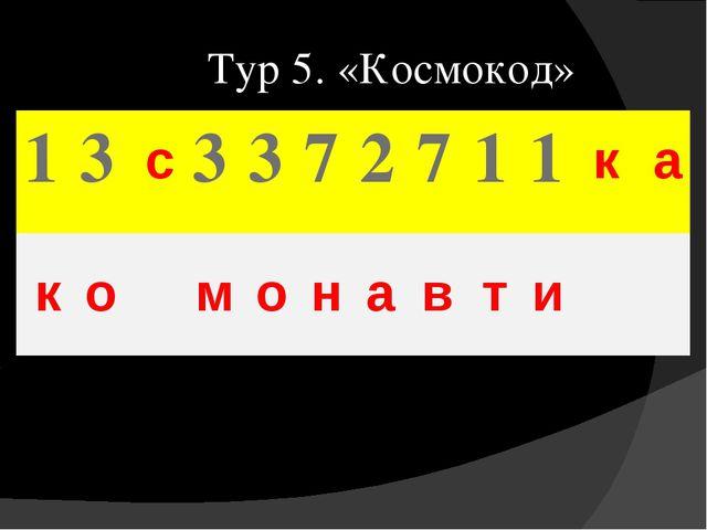 Тур 5. «Космокод»