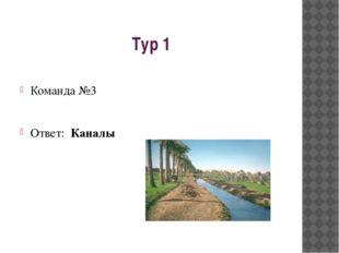 Тур 1 Команда №3 Ответ: Каналы