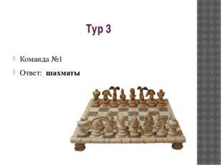 Тур 3 Команда №1 Ответ: шахматы