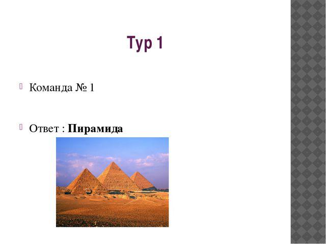 Тур 1 Команда № 1 Ответ : Пирамида