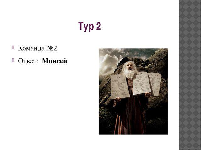 Тур 2 Команда №2 Ответ: Моисей