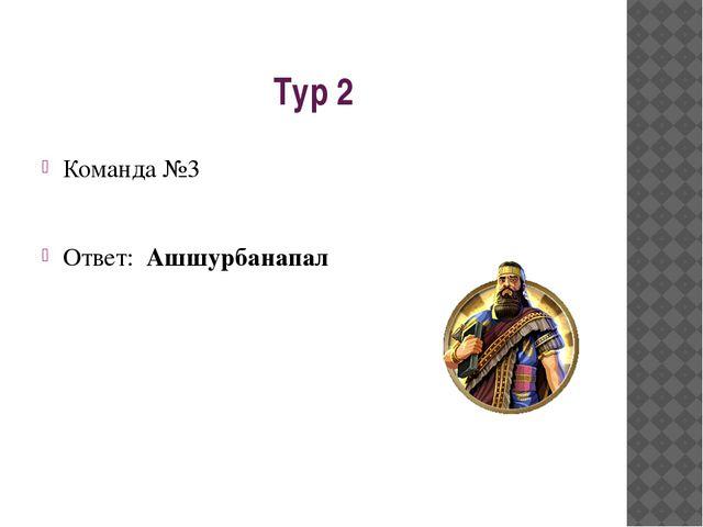 Тур 2 Команда №3 Ответ: Ашшурбанапал