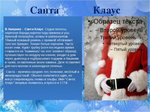 Санта Клаус В Америке – Санта Клаус. Седые волосы, опрятная борода коротко по