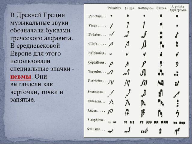 В Древней Греции музыкальные звуки обозначали буквами греческого алфавита. В...