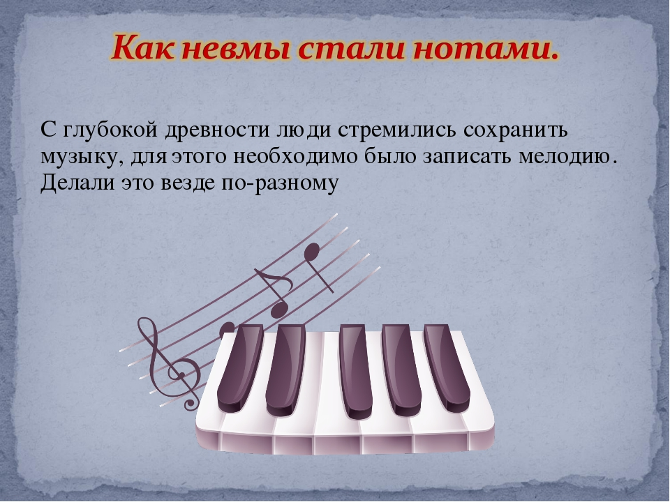 С глубокой древности люди стремились сохранить музыку, для этого необходимо б...