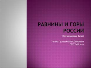 Окружающий мир 4 класс Учитель: Гуряева Наталья Дмитриевна ГБОУ ООШ № 11