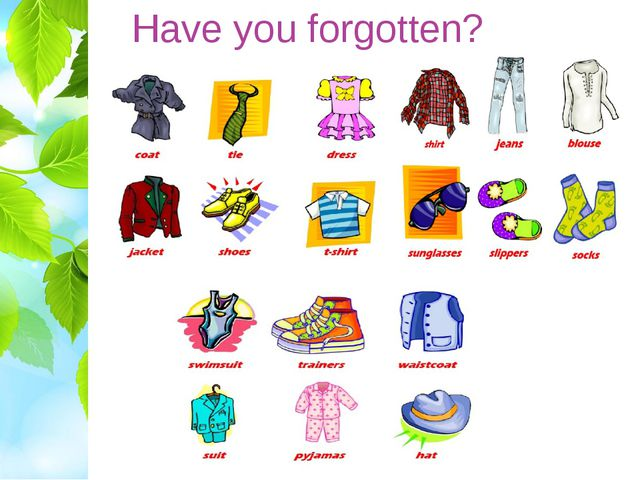 Have you forgotten?
