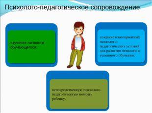 Психолого-педагогическое сопровождение создание благоприятных психолого-педаг