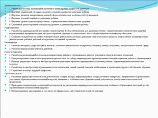 Диагностическое 1. Ранняя диагностика отклонений в развитии и анализ причин т