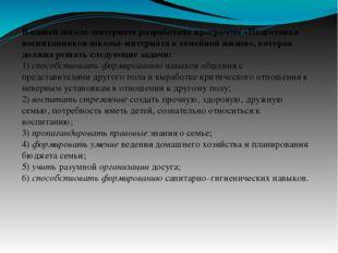 В нашей школе–интернате разработана программа«Подготовка воспитанников школы