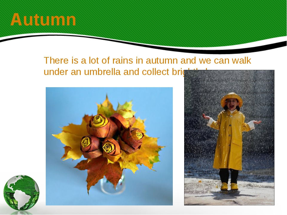 There is a lot of rains in autumn and we can walk under an umbrella and colle...
