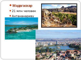 Мадагаскар 21 млн человек Антананариву