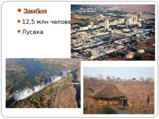 Замбия 12,5 млн человек Лусака
