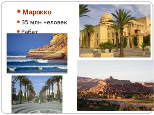 Марокко 35 млн человек Рабат