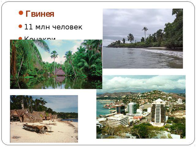 Гвинея 11 млн человек Конакри