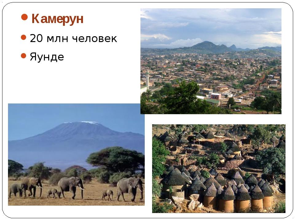 Камерун 20 млн человек Яунде