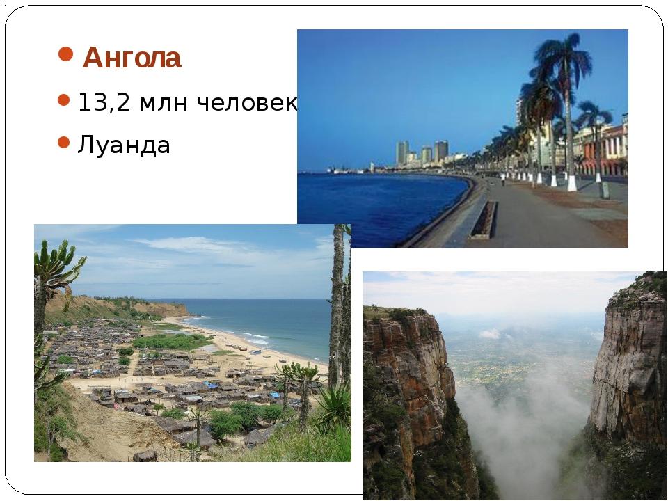 Ангола 13,2 млн человек Луанда
