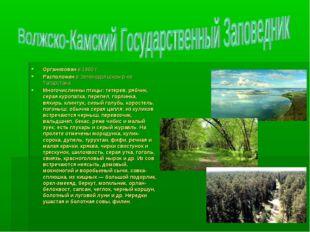 Организован в 1960 г. Расположен в Зеленодольском р-не Татарстана Многочислен