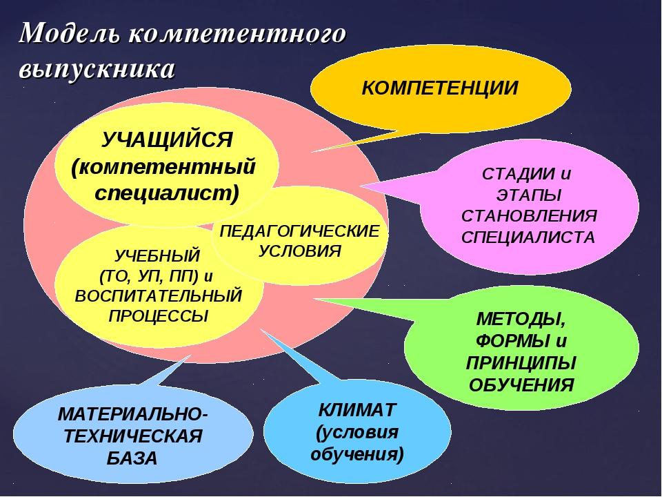 Модель компетентного выпускника УЧЕБНЫЙ (ТО, УП, ПП) и ВОСПИТАТЕЛЬНЫЙ ПРОЦЕСС...