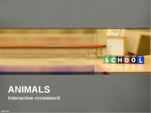 ANIMALS Interactive crossword