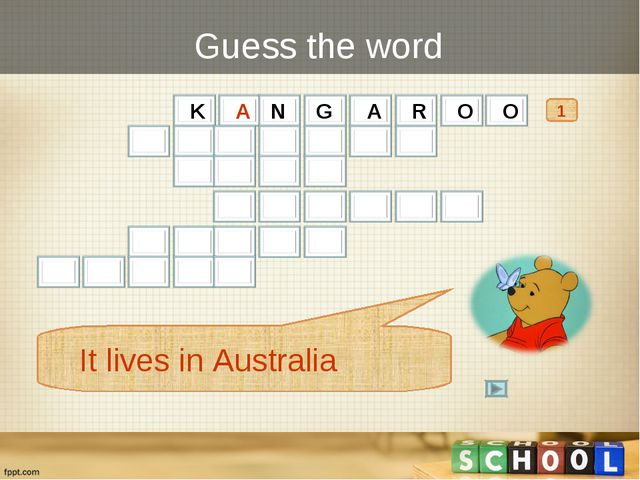 Guess the word 1 It lives in Australia