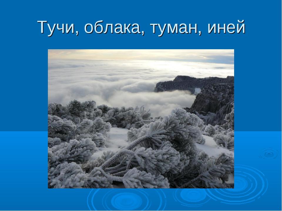 Тучи, облака, туман, иней