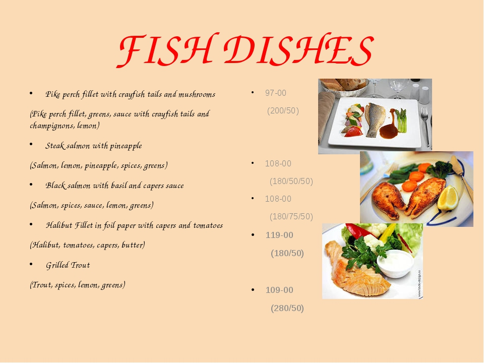 FISH DISHES Pike perch fillet with crayfish tails and mushrooms (Pike perch f...