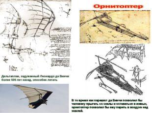 Дельтаплан, задуманный Леонардо да Винчи более 500 лет назад, способен летать