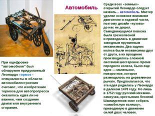 """Автомобиль При оцифровке """"автомобиля"""" был обнаружен придуманный Леонардо торм"""