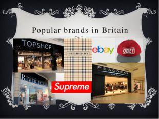 Popular brands in Britain