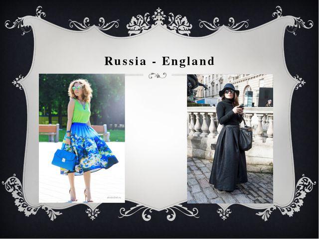 Russia - England