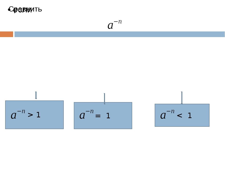 > 1 = 1 < 1