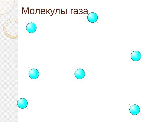 ГАЗЫ Молекулы газа