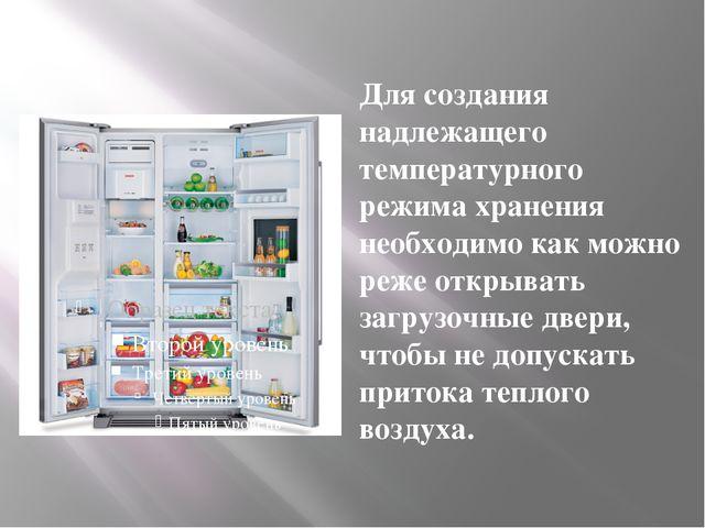 Для создания надлежащего температурного режима хранения необходимо как можно...